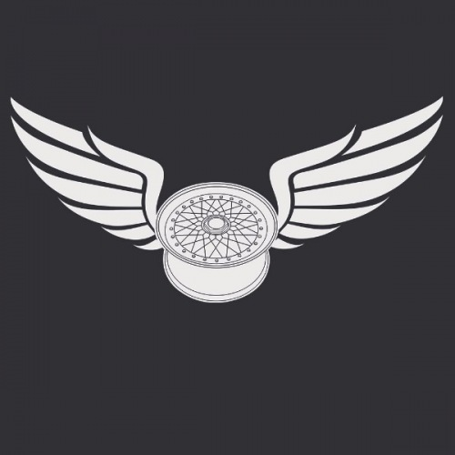 Dámské tričko s potiskem Wheels BBS RS Wings 2