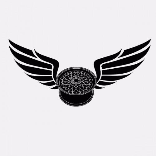 Dámské tričko s potiskem Wheels BBS RS Wings 1
