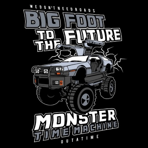 Dámské tričko s potiskem Big Foot To The Future