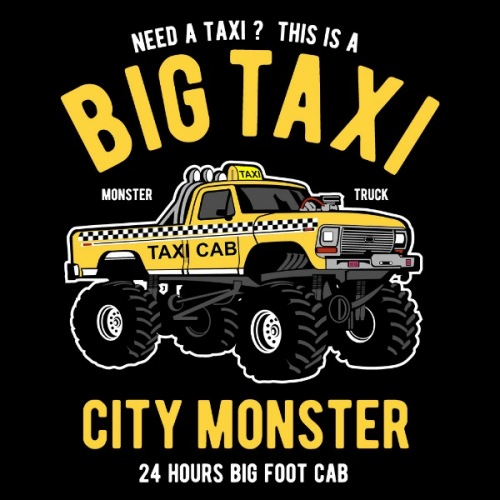 Dámské tričko s potiskem Big Taxi