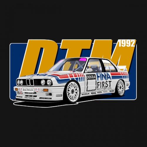 Pánské tričko s potiskem BMW e30 FINA DTM