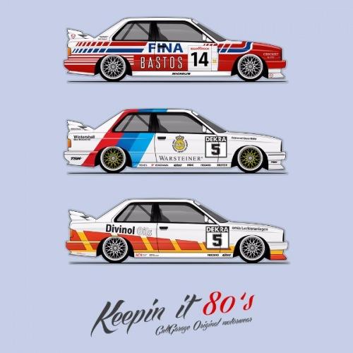 Dámské tričko s potiskem BMW e30 M3 DTM