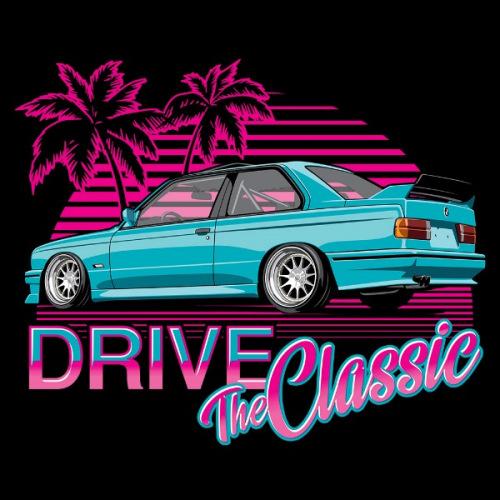 Dámské tričko s potiskem BMW e30 M3 Beach