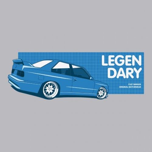 Dámské tričko s potiskem BMW e30 M3 Legendary