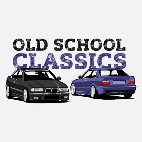 Dámské tričko s potiskem BMW e36 Oldschool Classic