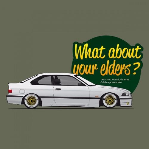 Pánské tričko s potiskem BMW e36: What About Your Elders