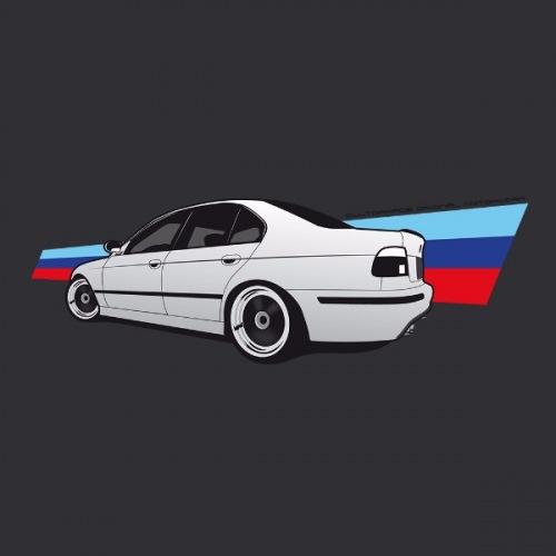 Dámské tričko s potiskem BMW e39 M5: 2