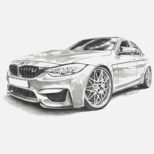 Women´s t-shirt BMW M3 F80 Handdrawn