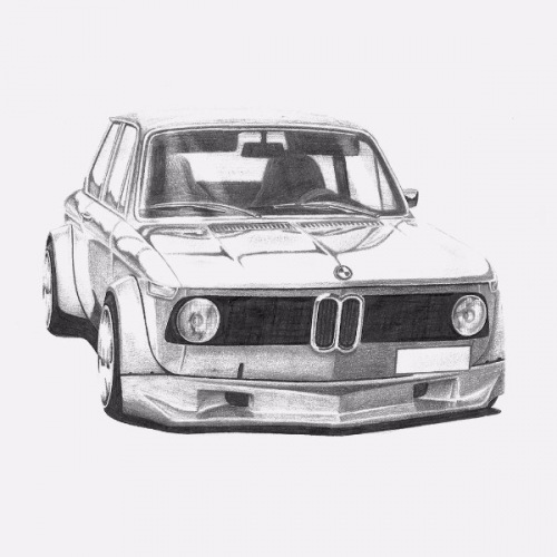 BMW 2002 Handdrawn