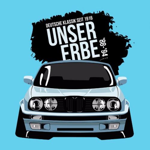 Dámské tričko s potiskem BMW e30 Cartoon