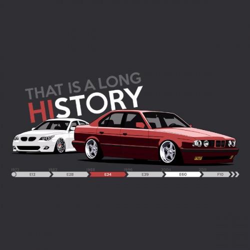 Dámské tričko s potiskem BMW e34 + e61 TLH 2