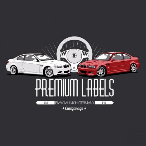 Dámské tričko s potiskem BMW e92 + e46 2