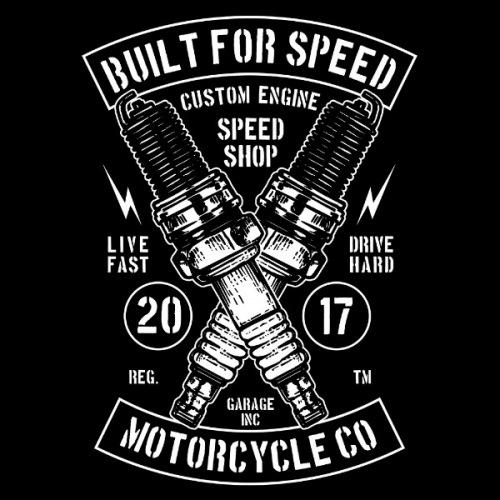 Dámské tričko s potiskem Built For Speed