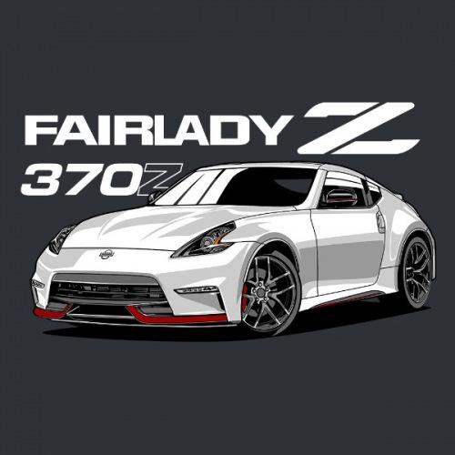 Pánské tričko s potiskem Datsun Fairlady 370Z White