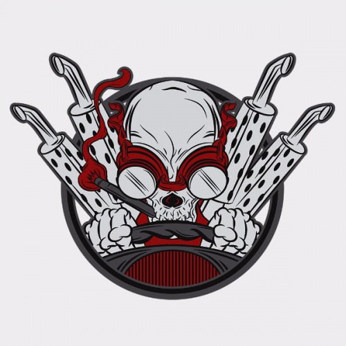 Dámské tričko s potiskem Driver Skull