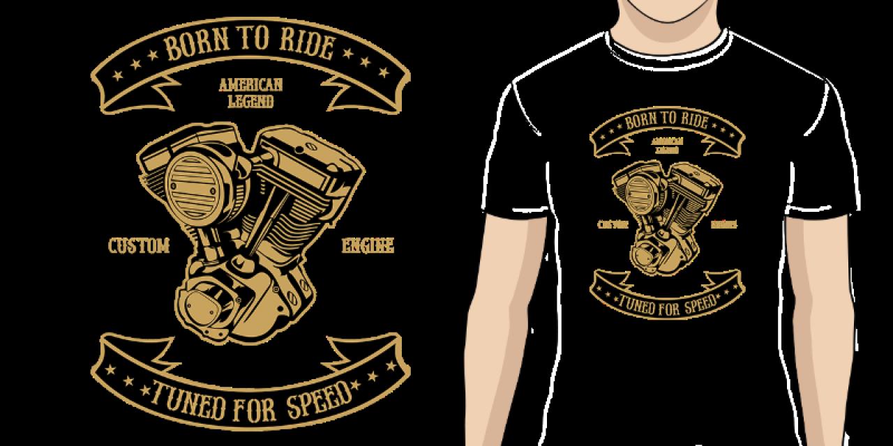 a207efc18e18 Pánské tričko s potiskem Engine Born To Ride