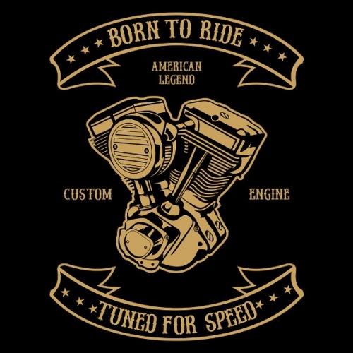 Dámské tričko s potiskem Engine Born To Ride
