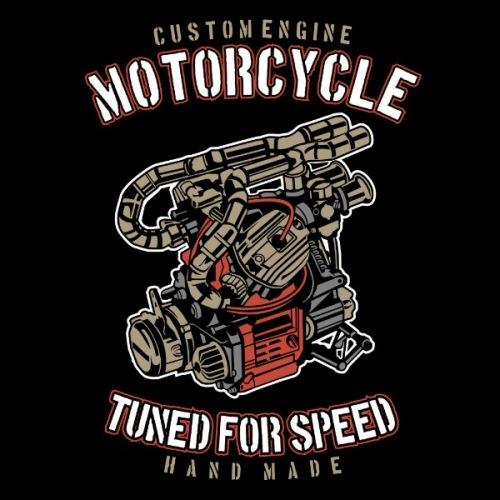 Dámské tričko s potiskem Engine Tuned For Speed