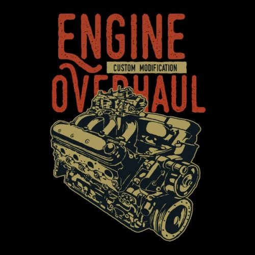 Pánské tričko s potiskem Engine Ex Machina 2