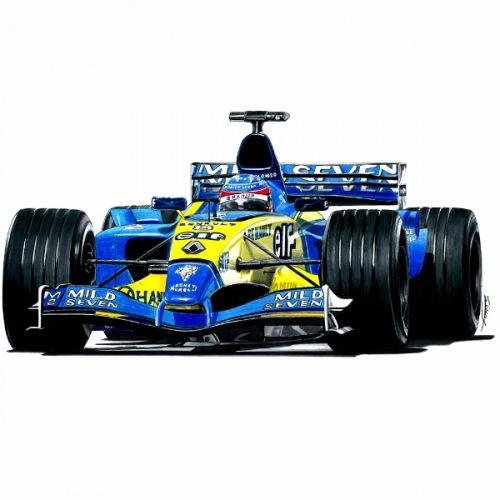 Pánské tričko s potiskem F1 Renault Handdrawn