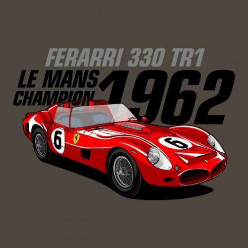 Dámské tričko s potiskem Ferarri 330 TR1 Le Mans