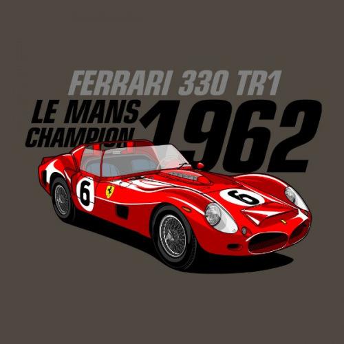 Dámské tričko s potiskem Ferrari 330 TR1 Le Mans