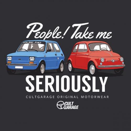 Dámské tričko s potiskem Fiat červená/modrá 2