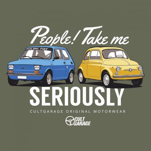 Dámské tričko s potiskem Fiat modrá/žlutá 1