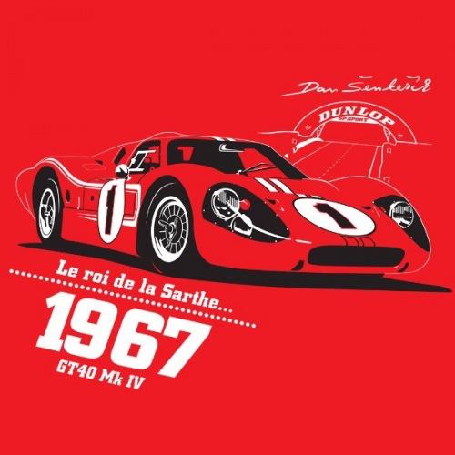 Dámské tričko s potiskem Ford GT40 Mk IV 1967