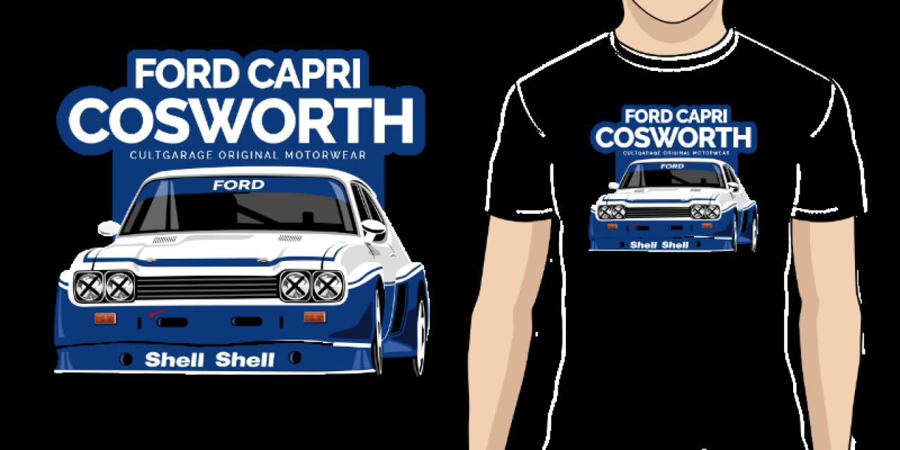 Pánské tričko s potiskem Ford Capri Cosworth 33ed4813c3d