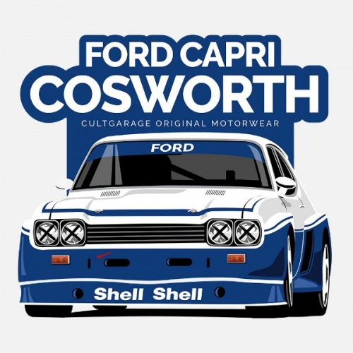 Dámské tričko s potiskem Ford Capri Cosworth