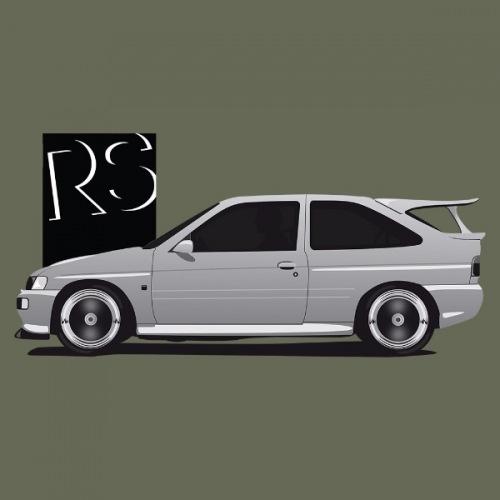 Dámské tričko s potiskem Ford Escort RS Cosworth