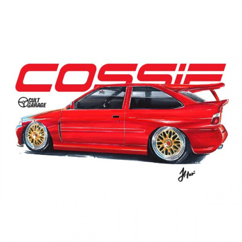 Dámské tričko s potiskem Ford Escort RS Cosworth Cossie