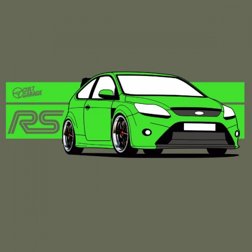 Dámské tričko s potiskem Ford Focus RS
