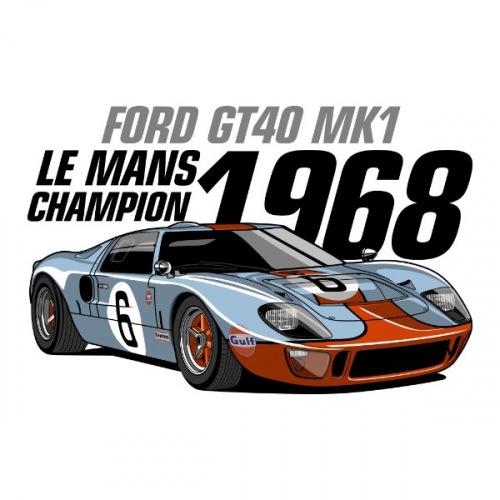 Pánské tričko s potiskem Ford GT40 MK1 Le Mans