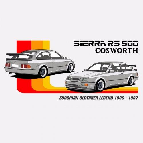 Dámské tričko s potiskem Ford Sierra RS 500 Cosworth