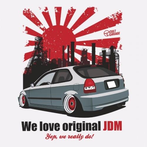 Dámské tričko s potiskem Honda Civic 6g: We Love JDM