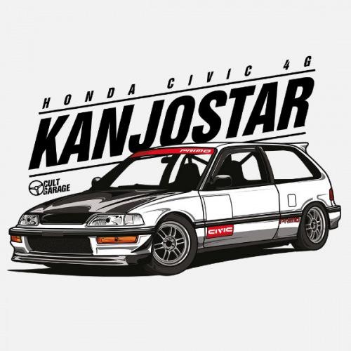 Dámské tričko s potiskem Honda Civic 4g Kanjostar 1