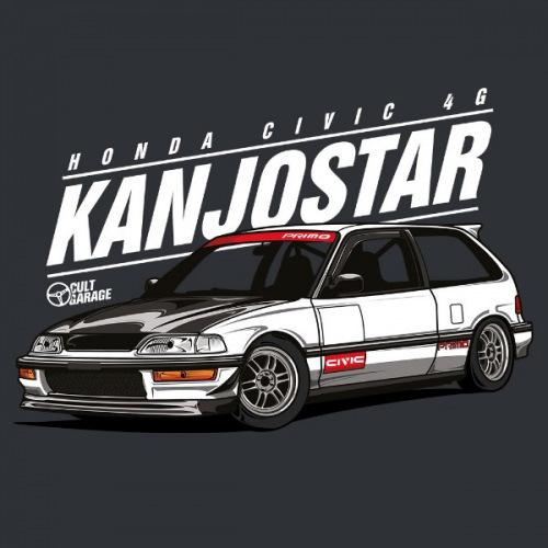 Dámské tričko s potiskem Honda Civic 4g Kanjostar 2