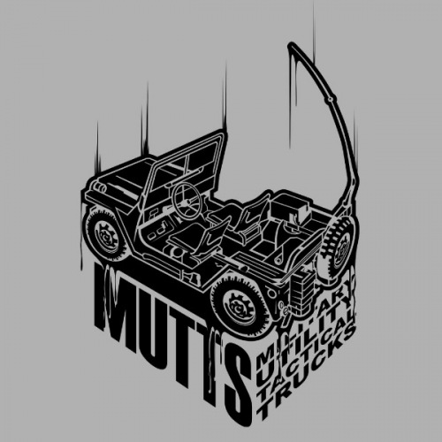 Pánské tričko s potiskem Jeep Willys Military černý