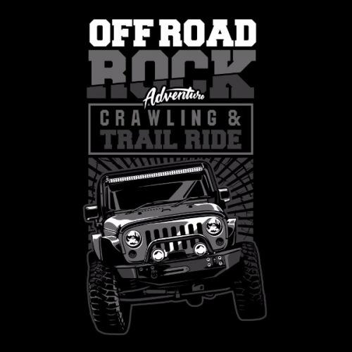 Dámské tričko s potiskem Jeep Off Road