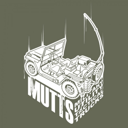 Pánské tričko s potiskem Jeep Willys Military bílý