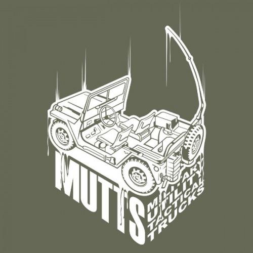Dámské tričko s potiskem Jeep Willys Military bílý