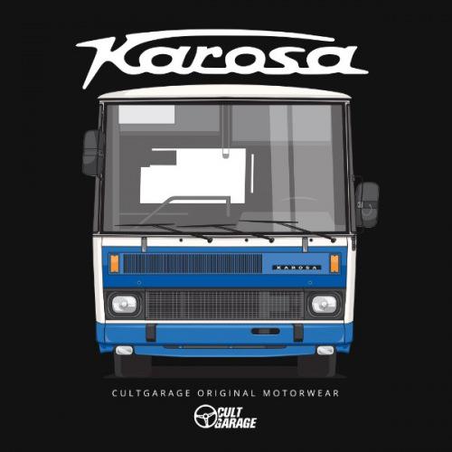 Dámské tričko s potiskem Karosa C734 předek 2 modrá