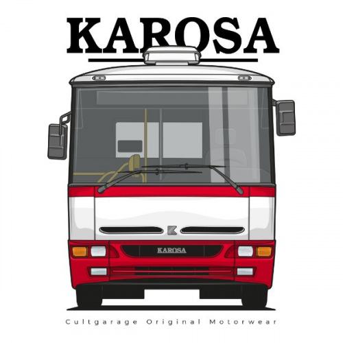 Pánské tričko s potiskem Karosa B951 předek 1 červená