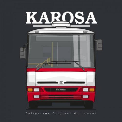 Dámské tričko s potiskem Karosa B951 předek 2 červená