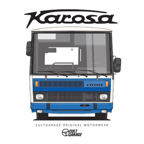 Dámské tričko s potiskem Karosa C734 předek 1 modrá