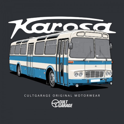 Dámské tričko s potiskem Karosa ŠL11 modrý 2