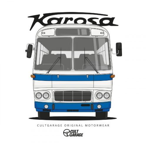 Dámské tričko s potiskem Karosa ŠL11 předek 1 modrá