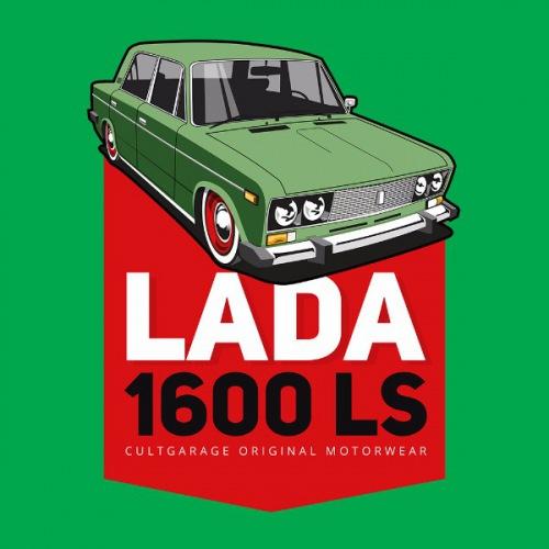 Pánské tričko s potiskem Lada 1600 LS Zelená